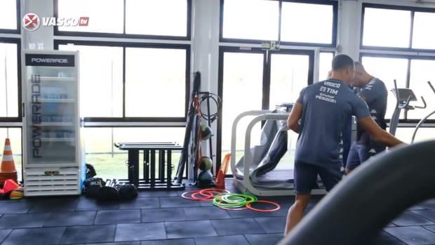 Vasco's training session ahead of Cruzeiro clash