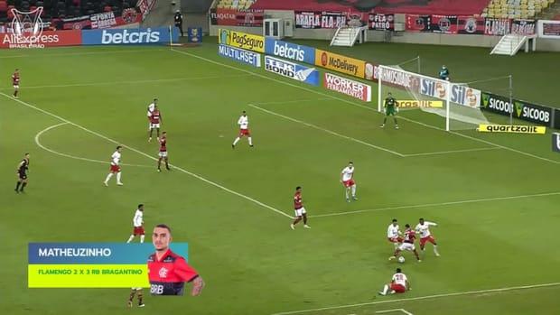 Matheuzinho's cheeky nutmeg vs Flamengo