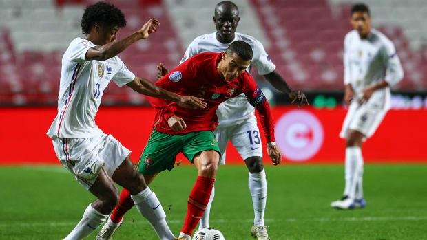 Cristiano Ronaldo against France