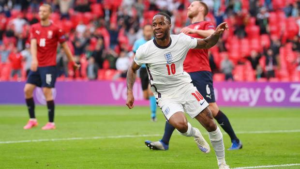 Raheem Sterling scores for England vs. Czech Republic