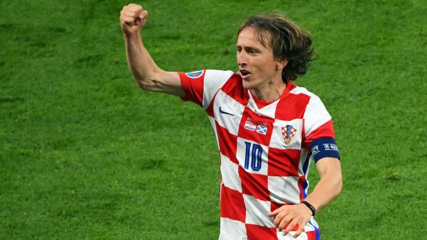 Luka Modric scores for Croatia vs Scotland