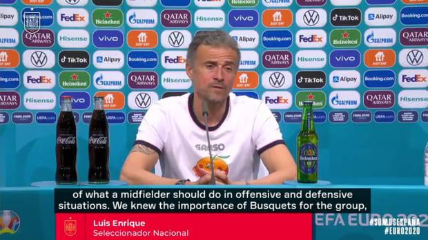 Luis Enrique praises Busquets after Spain's win vs Slovakia