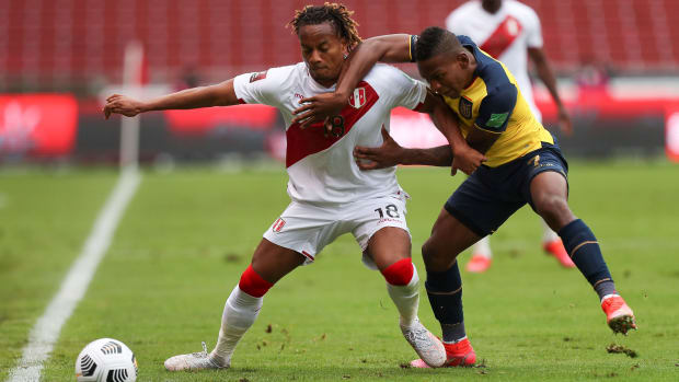 Ecuador against Peru.