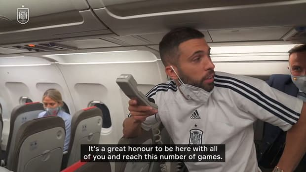 Jordi Alba's speech after reaching 75 games for Spain