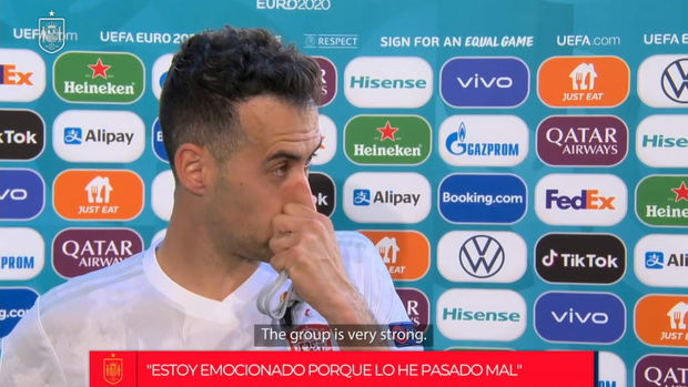 Busquets's emotional reaction and thoughts on facing Croatia