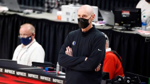 Rick Carlisle while coaching the Dallas Mavericks