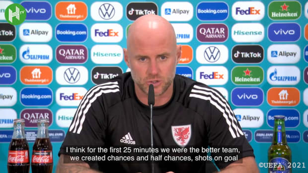 Wales manager Rob Page speaks after Euro exit