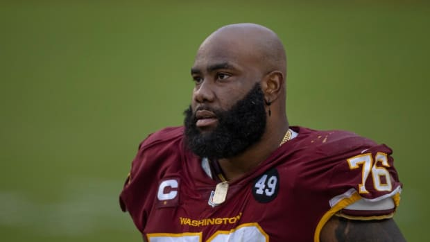 Washington Football Team lineman Morgan Moses
