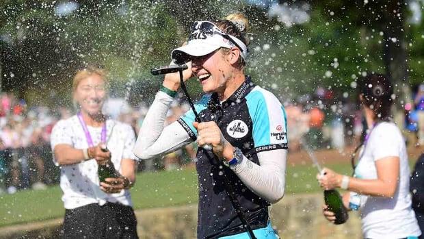 Nelly Korda, 2021 KPMG Women's PGA Championship celebration
