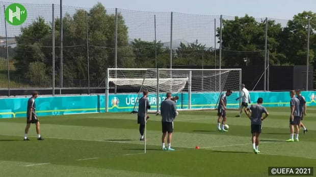 Germany in training before taking on England