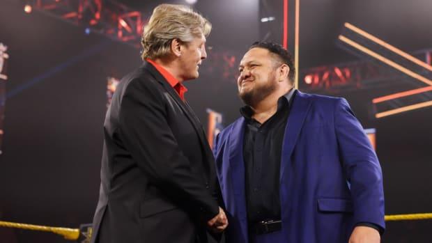 Samoa Joe shakes William Regal's hand on NXT