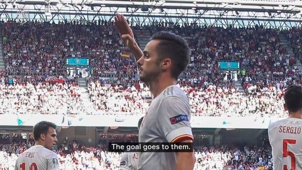 Sarabia explains his special goal dedication