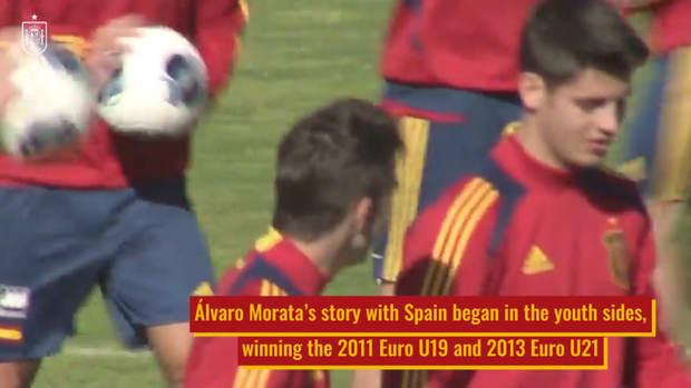 Álvaro Morata, Spain's main choice up front