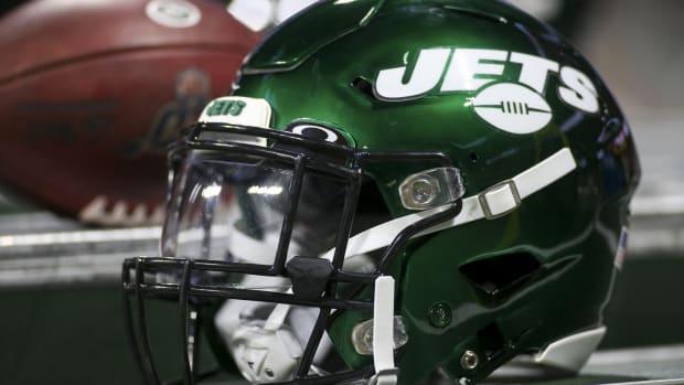 New York Jets helmet during preseason