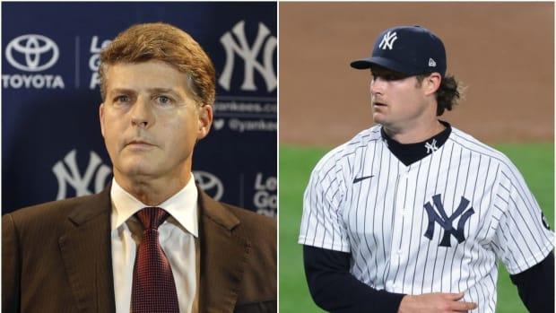 Yankees owner Hal Steinbrenner and SP Gerrit Cole