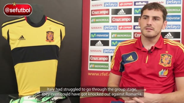 Casillas on turning point knockout against Italy in Euro 2008