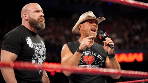 Shawn Michaels and Triple H cut a promo