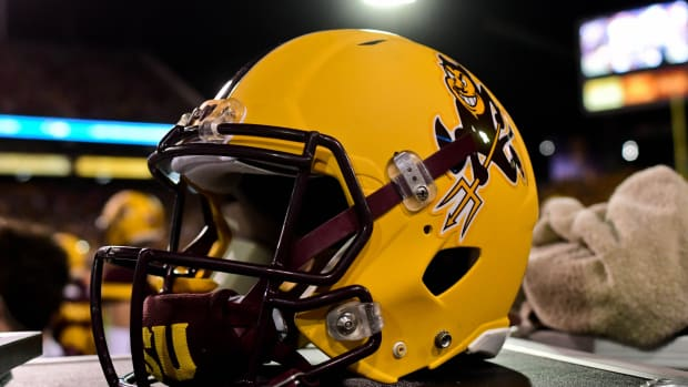 ASU yellow helmet