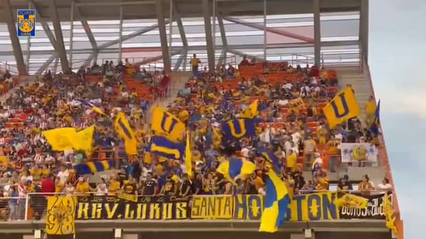 Tigres fans support their team in Texas