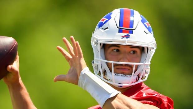 New Bills backup QB Mitchell Trubisky.