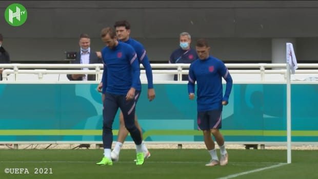 England train before Euro 2020 final