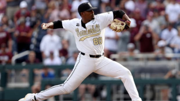The Mets selected right-handed pitcher Kumar Rocker out of Vanderbilt with the 10th overall pick in the MLB draft.