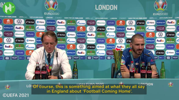 Bonucci was motivated by England's 'It's Coming Home' messaging