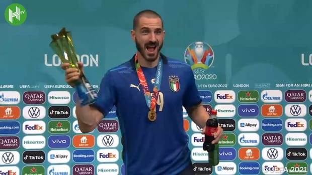 Bonucci drinks Heineken and Coca-Cola after helping Italy beat England