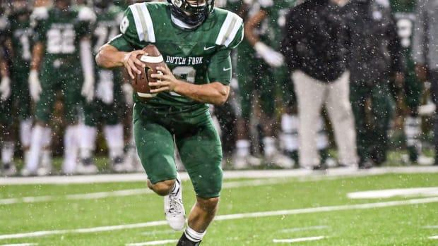Clemson freshman QB Will Taylor playing during his senior season at Dutch Fork