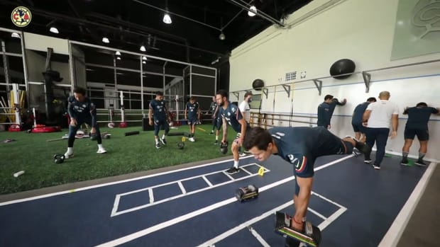 Club América's training session at Nido Águila