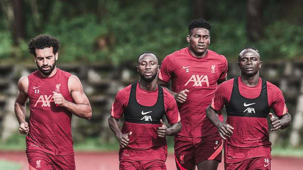 Mohamed Salah Naby Keita Taiwo Awoniyi Sadio Mane