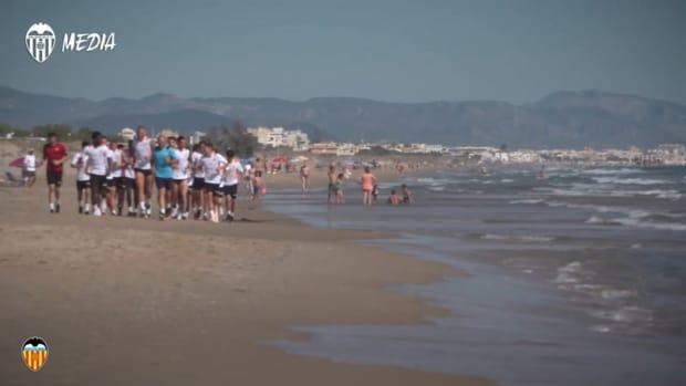 Valencia's Mediterranean pre-season training camp