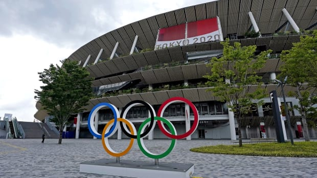 July 15, 2021; Tokyo; Japan; A view of Olympic Stadium ahead of the Tokyo Summer Olympics. Mandatory Credit: Peter Casey-USA TODAY Sports