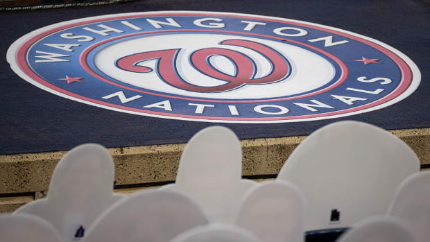 The Nationals logo.