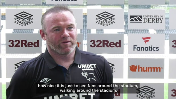 Rooney delighted to see Derby and Man United fans in stadium
