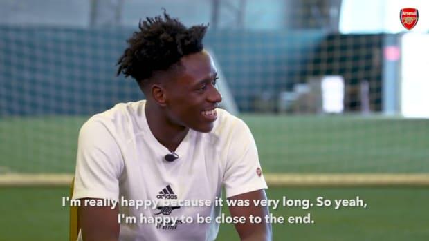 Albert Sambi Lokonga's first Arsenal interview
