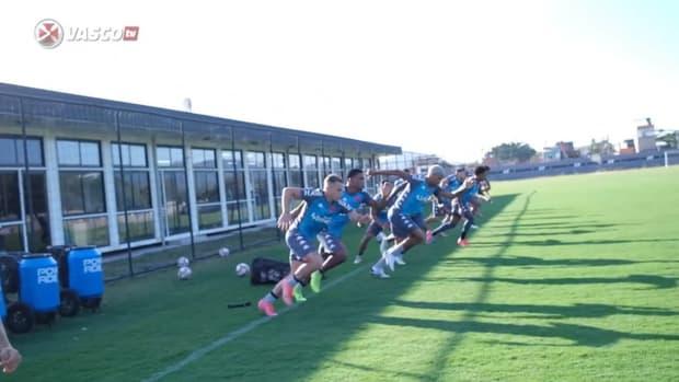 Vasco training session at Almirante's training centre