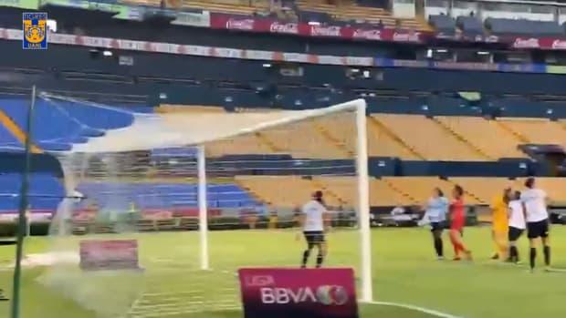 Jana Gutiérrez's first goal for Tigres Femenil