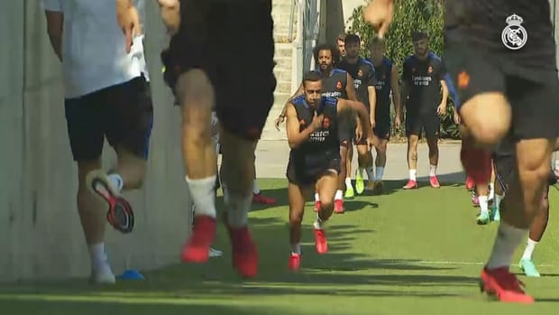 The second day of the week's training gets underway
