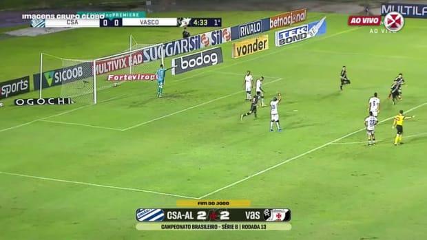 Vasco draw against CSA at Rei Pelé Stadium