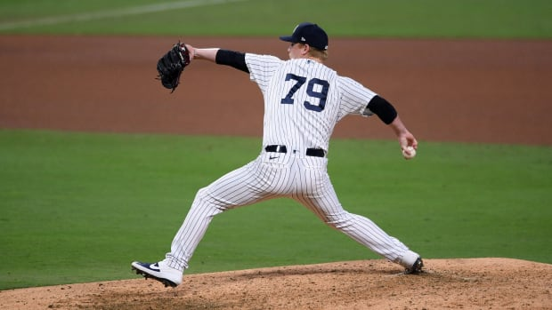 Yankees RP Nick Nelson pitching