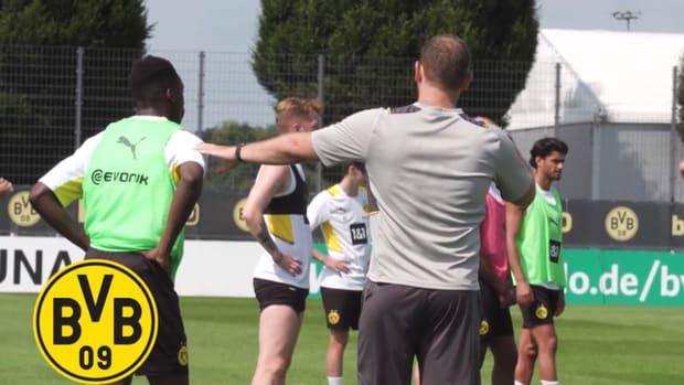 Dortmund's new signing Kamara in training