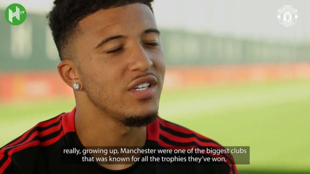 Jadon Sancho's first interview as a Manchester United player