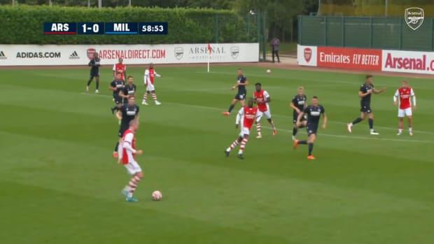 Alexandre Lacazette scores vs Millwall