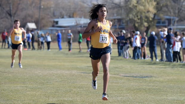 Luis Grijalva during the NCAA Mountain Region Cross Country Championships