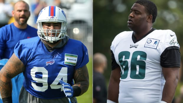 On July 26, 2021 the Tennessee Titans signed defensive linemen Kyle Peko (left) and Anthony Rush (right).