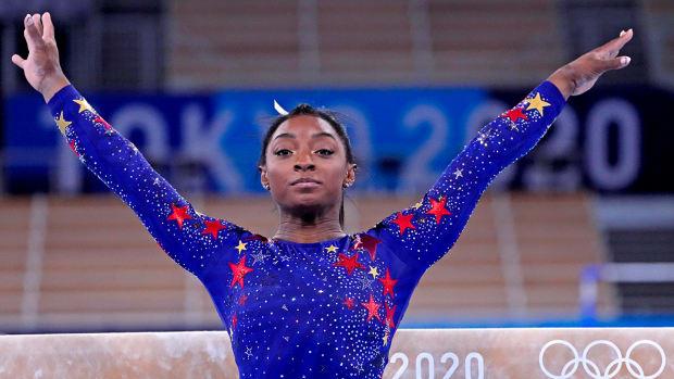 Simone Biles at the Tokyo Olympics