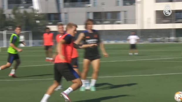 Intense ball-work session at Real Madrid City