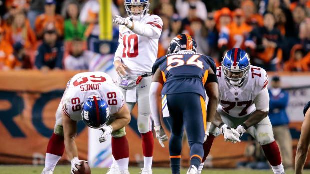 Brett Jones with Giants