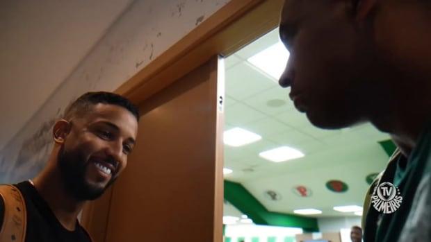 Jorge's first day at Palmeiras